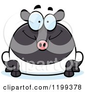 Cartoon Of A Happy Chubby Tapir Royalty Free Vector Clipart by Cory Thoman