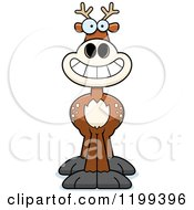 Cartoon Of A Grinning Deer Royalty Free Vector Clipart by Cory Thoman
