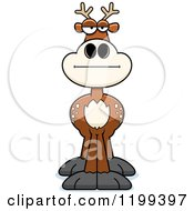 Cartoon Of A Bored Or Skeptical Deer Royalty Free Vector Clipart by Cory Thoman