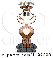 Cartoon Of A Drunk Deer Royalty Free Vector Clipart