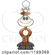Cartoon Of A Dreaming Deer Royalty Free Vector Clipart by Cory Thoman