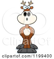 Cartoon Of A Surprised Deer Royalty Free Vector Clipart by Cory Thoman