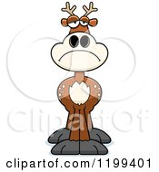 Cartoon Of A Depressed Deer Royalty Free Vector Clipart by Cory Thoman