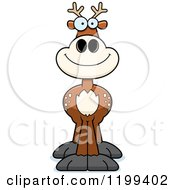 Cartoon Of A Happy Smiling Deer Royalty Free Vector Clipart