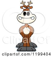 Cartoon Of A Mad Deer Royalty Free Vector Clipart by Cory Thoman