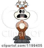 Cartoon Of A Scared Deer Royalty Free Vector Clipart by Cory Thoman