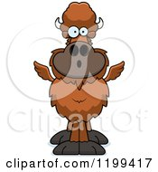 Cartoon Of A Surprised Winged Buffalo Royalty Free Vector Clipart by Cory Thoman