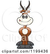Cartoon Of A Drunken Antelope Royalty Free Vector Clipart
