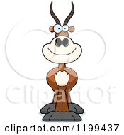 Cartoon Of A Happy Smiling Antelope Royalty Free Vector Clipart