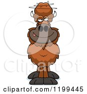 Cartoon Of A Drunk Buffalo Royalty Free Vector Clipart