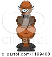 Cartoon Of A Happy Smiling Buffalo Royalty Free Vector Clipart by Cory Thoman