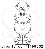 Cartoon Of A Black And White Mad Buffalo Royalty Free Vector Clipart