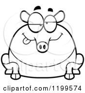 Cartoon Of A Black And White Drunk Chubby Tapir Royalty Free Vector Clipart by Cory Thoman