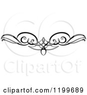 Clipart Of A Black And White Swirl Border Flourish Design Element 10 Royalty Free Vector Illustration
