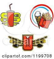 Clipart Of Fast Food Designs Royalty Free Vector Illustration