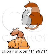 Clipart Of Dogs And Cats Royalty Free Vector Illustration by Vector Tradition SM