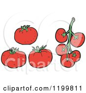 Cartoon Of Tomatoes Royalty Free Vector Illustration by lineartestpilot