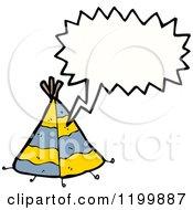 Cartoon Of An Indian Teepee Speaking Royalty Free Vector Illustration