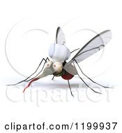 Clipart Of A 3d Mosquito Chef Facing Left Royalty Free CGI Illustration