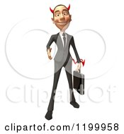 Clipart Of A 3d Con Artist Business Man Reaching Out To Shake Hands Royalty Free CGI Illustration
