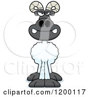 Cartoon Of A Mad Ram Sheep Royalty Free Vector Clipart by Cory Thoman
