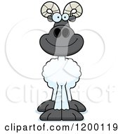Cartoon Of A Happy Ram Sheep Royalty Free Vector Clipart by Cory Thoman