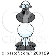 Cartoon Of A Happy Sheep Royalty Free Vector Clipart by Cory Thoman