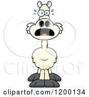 Cartoon Of A Scared Llama Royalty Free Vector Clipart by Cory Thoman
