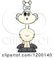 Cartoon Of A Surprised Llama Royalty Free Vector Clipart by Cory Thoman