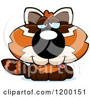 Cartoon Of A Drunk Red Panda Cub Royalty Free Vector Clipart by Cory Thoman