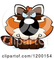 Cartoon Of A Mad Red Panda Cub Royalty Free Vector Clipart by Cory Thoman
