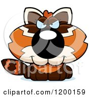 Cartoon Of A Sly Red Panda Cub Royalty Free Vector Clipart by Cory Thoman