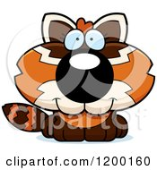 Cartoon Of A Cute Happy Red Panda Cub Royalty Free Vector Clipart