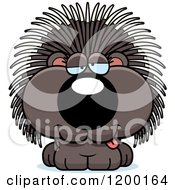 Cartoon Of A Drunk Porcupine Porcupet Royalty Free Vector Clipart by Cory Thoman