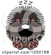 Cartoon Of A Cute Sleeping Porcupine Royalty Free Vector Clipart by Cory Thoman