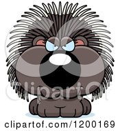 Cartoon Of A Sly Porcupine Porcupet Royalty Free Vector Clipart by Cory Thoman
