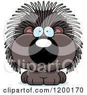 Cartoon Of A Cute Happy Porcupine Royalty Free Vector Clipart