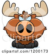 Cartoon Of A Sly Moose Calf Royalty Free Vector Clipart