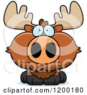 Cartoon Of A Cute Happy Moose Calf Royalty Free Vector Clipart