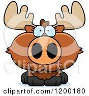 Cute Happy Moose Calf
