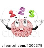 Happy Brain Mascot Counting With 123