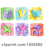 Colorful Quilt Letters U Through Z