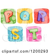 Colorful Quilt Letters P Through T
