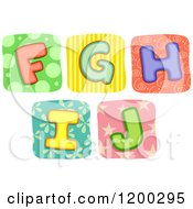 Colorful Quilt Letters F Through J