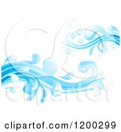 Cartoon Of A Blue Water Splash 3 Royalty Free Vector Clipart