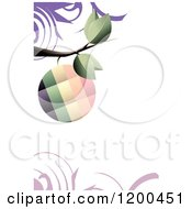 Colorful Fruit On A Tree Branch Over Copyspace And Swirls