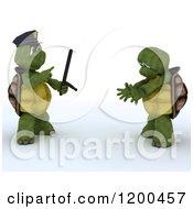 3d Police Tortoise Arresting A Criminal