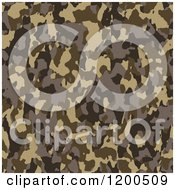 Clipart Of A Seamless Brown Army Camouflage Pattern Royalty Free Vector Illustration by Arena Creative