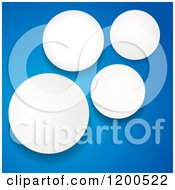Clipart Of 3d White Paper Circle Cut Outs On Blue Royalty Free Vector Illustration by elaineitalia