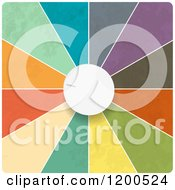 Clipart Of A 3d White Dial And Colorful Segments Royalty Free Vector Illustration